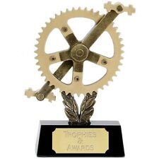 """CYCLING Sprocket Trophy FREE ENGRAVING 2 Sizes 6"""" or 8"""" Road Cycle Race Sportive"""