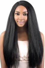 Motown Tress Synthetic Straight Coarse Texture Deep Part LXP LION Lace Front Wig
