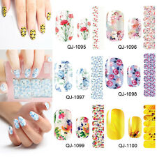 Nail Art Wraps Self Adhesive Stickers Floral Flowers Decals Manicure Wraps