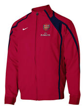 Nike Tiempo Arsenal FC VIntage LU Soccer Anthem Jacket 2009 - 2010 New Red /Navy