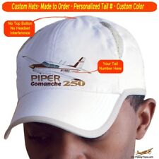 Piper Comanche PA-24-250 Airplane Pilot Hat - Personalized with N#