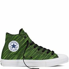 Converse Chuck Taylor All Star II Knit Black/Green/White 100% New 151086C A+