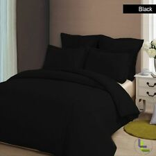 SALE - EXTRA DEEP POCKET SOFT BLACK SOLID 4PC SHEET SET  IN 1000TC 100% COTTON