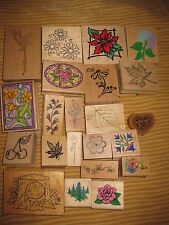 YOUR CHOICE ONE RUBBER STAMP-PREOWNED-FLORAL, ETC-ALL UNDER $3.99