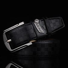 Genuine Leather Men's Pin Metal Buckle Belt Casual Waist Strap Belt Waistband