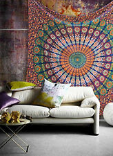 Mandala Cotton Wall Hanging Bohemian Bedspread Bed sheet Hippie boho Tapestry