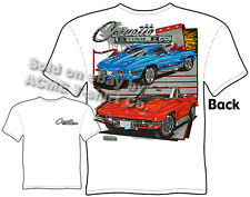 Corvette T Shirt 63 67 Stingray Tee 1963 1967 Chevrolet Shirts Sz M L XL 2XL 3XL