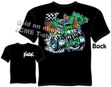 Kustom Kulture Apparel Butt Racer Gear Head T Shirt Tattoo Tee Sz M L XL 2XL 3XL