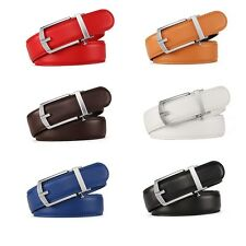 Colorful Luxury Automatic Buckle Belt For Men Genuine Leather Waist Strap