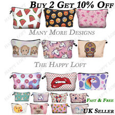 Funky Cute Quirky Cool Make Up Cosmetic Bags Zip Fashion Large Purse Pencil Case