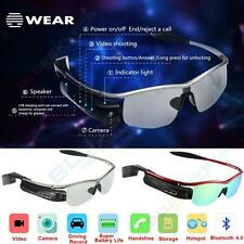 Smart Bluetooth Video Glasses 80.MP Camera Headset Handfree DVR For Android IOS