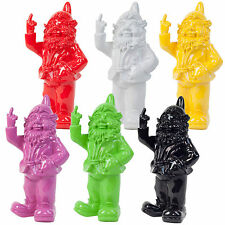 Naughty Funny Rude 'Middle Finger' Polyresin Garden Gnome Figurine Ornaments