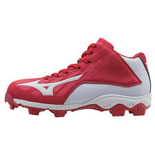 Mizuno 9-Spike Advanced Franchise 8 Mid Youth Baseball Cleat  Red-Whi