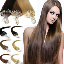 20''22'' Easy Loop Micro Ring Bead Tipped Straight Remy Human Hair Extensions