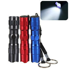 Mini 3W Waterproof LED Flashlight Pen Light Torch Handy Lamp Keychain