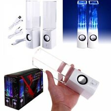 LED Light Dancing Water Speaker USB for PC Laptop MP3 MP4 Cell Phone from USA
