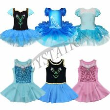 Girls Gymnastics Ballet Tutu Dress Kids Party Dance Wear Leotard Skirt Costume