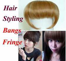 Ladies Clip in Slim Face Bangs Fringe Hair Extension Piece Multi-color FREE SHIP