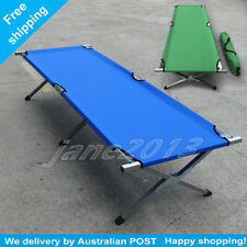 Folding Camping Bed Stretcher Light Weight Durable Camp Portable / Carry Bag g/b