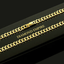 Curb chain 4 mm Necklace Real 750 18 ct Gold-plated Unisex K1808