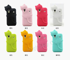 3D Hide Cat Silicone Case for Samsung Galaxy Ace S5830 Protective Rubber Cover
