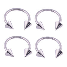4pcs Lot Stainless Steel Spike Horseshoes Nose Ring Body Piercing Jewelry
