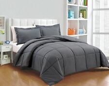 COMFORTER SETS 1000 TC PREMIUM EGYPTIAN COTTON  AVAILABLE IN ALL SIZE - GRAY