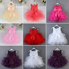 Flower Girl Princess Baptism Fancy Dress Baby Wedding Party Pageant Tutu Dresses