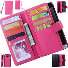 Luxury PU Leather Wallet Card Holder Flip Cover Stand Case For LG G3 G5 G4 LS770