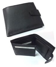 MENS HANDMADE SOFT QUALITY REAL LEATHER WALLET CREDIT CARD HOLDER BLACK PURSE