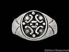 Medieval Signet Ring Sterling Silver