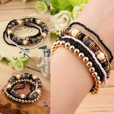 Summer Women Stretch Mix Multilayer Beads Bracelet Elastic Bangle Jewllery