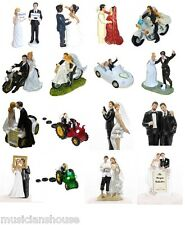 WEDDING CAKE TOPPERS DECORATION BRIDE & GROOM GIFT PRESENT NOVELTY BRIDAL PARTY