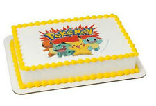 Pokemon edible image custom cake topper frosting sheet personalized icing #38316