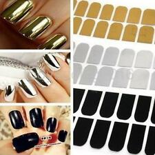 16pcs SELF-ADHESIVE Metallic Nail Art Foils Stickers Polish Manicure Tip Wraps