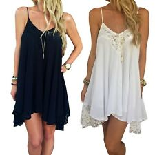 Womens Sexy Summer Sleeveless Vest Tops Evening Party Beach Sundress Mini Dress