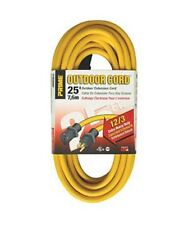 25-100Ft 12 Gauge 12/3 Indoor Outdoor Heavy Duty Power Extension Cord UL Listed