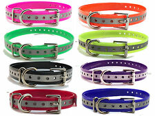 """Sparky PetCo Dogtra Compatible 3/4"""" Replacement Reflective Straps 8 Colors USA"""