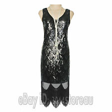 Great Gatsby Inspired Tassel Beaded Cocktail 20s Party 1920s Flapper Dance Dress