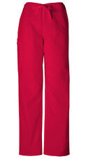 Scrubs Cherokee Workwear Men's Drawstring Cargo Pant Short 4100S REDW Red