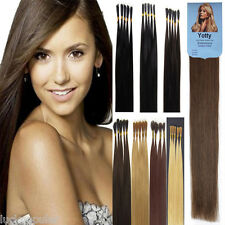 """Double Drawn Remy Human Hair Extensions Pre- Bonded Stick I Tip16""""18""""20""""22"""" 1G/S"""