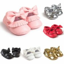 Newborn Baby Soft Sole Leather Shoes Toddler Infant Boy Girl Tassel Moccasin New