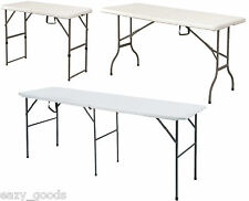 FOLDING TRESTLE TABLE 4FT 5FT 6FT 8FT PICNIC CAMPING BBQ BANQUET GARDEN MARKET