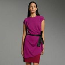 NARCISO RODRIGUEZ DESIGNATION LAYERED RED MAGENTA COLOR BLOCK DRESS S M L XL