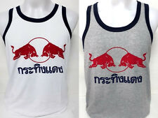 MENS-T-SHIRT-RED BULL-TANK-TOP-SINGLET-2 Color-Gray-White Size M-L-XL