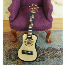 12th Vintage Dolls House Miniature Acoustic/Electric Guitar Musical Instrument