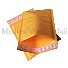 "#000 4x8 Kraft Bubble Mailer Padded Envelopes Bags 4"" x 8"" + Free Shipping !!"