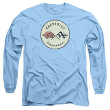 Mens Chevy Corvette Vintage Classic Logo Long Sleeve T-Shirt
