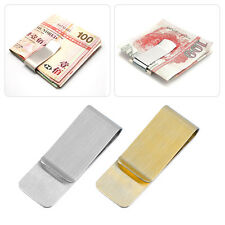 Men Stainless Steel Money Clip Cash Note Credit Card Holder Wallet Purse BG