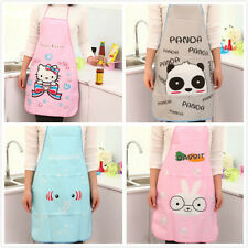 Oleophobic Kitchen Women Cooking Dress Apron Waterproof Girls Cartoon Cute 3